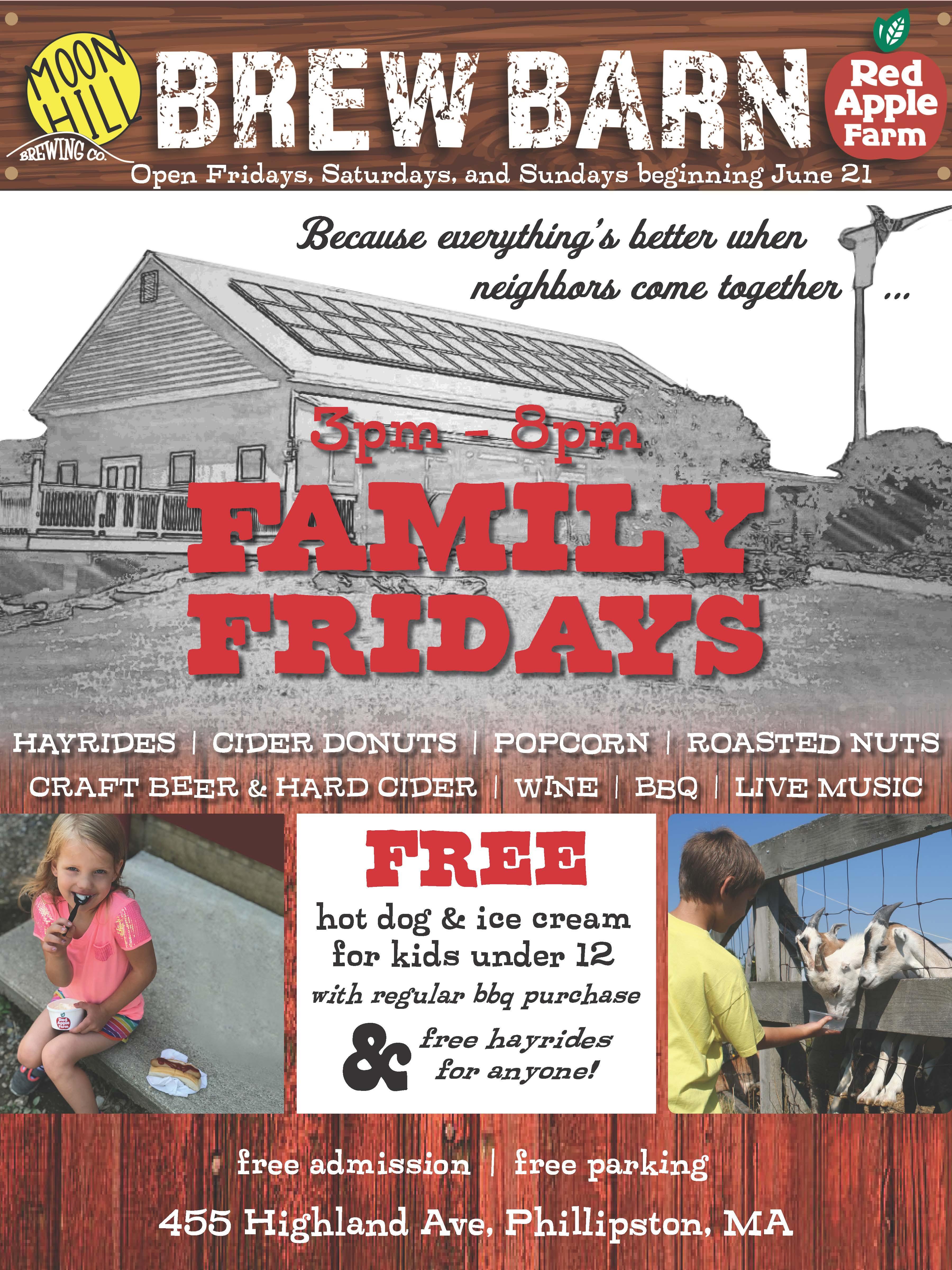 Family Fridays at the Brew Barn | Red Apple Farm
